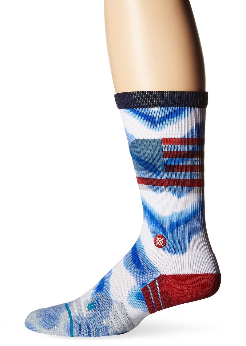 Stance Men's Athletic Moisture Wicking Breathable Crew Sock  M (6-8.5)