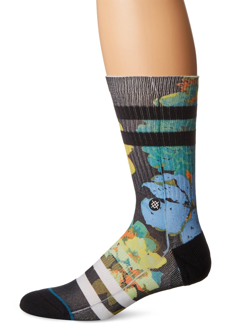 Stance Men's Corsage Floral Stripe Arch Support Classic Crew Sock  L