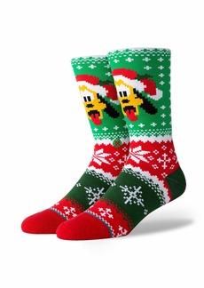 Stance Men's Disney Christmas Crew Sock pluto Claus MEDIUM