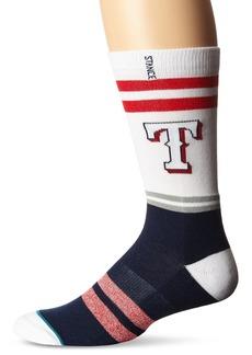 Stance en's Rangers Crew Sock  Sock Size:10-13/Shoe Size: 6-12