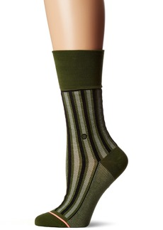 Stance Women's Stripe Up Arch Support Everyday Crew Sock