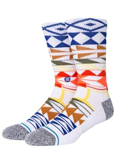 Stance Warrior Print Combed Cotton Blend Socks