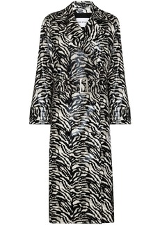 STAND STUDIO Shelby zebra-print coat
