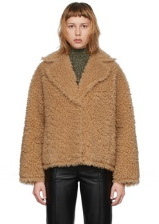 Stand Studio Beige Faux-Fur Sherry Jacket