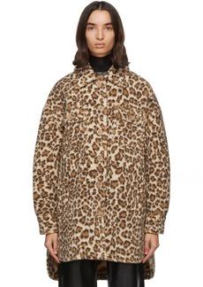 Stand Studio Beige Leopard Sabi Coat