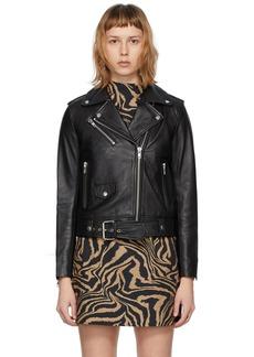 Stand Studio Black Leather Polly Biker Jacket