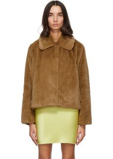 Stand Studio Brown Faux-Fur Marcella Koba Jacket