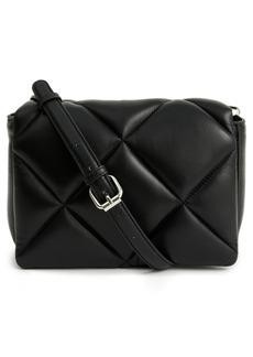 Stand Studio Brynn Quilted Lambskin Leather Shoulder Bag - Black