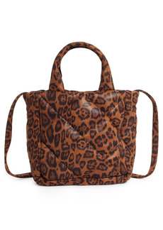 Stand Studio Rosanne Leopard Print Quilted Top Handle Bag - Brown