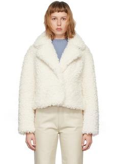 Stand Studio White Faux-Fur Janet Jacket