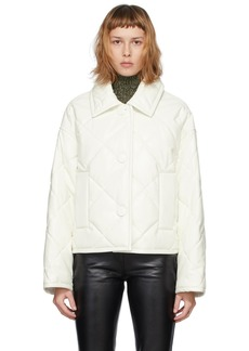 Stand Studio White Faux-Leather Jacinda Puffy Jacket
