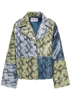 Stand Studio Woman Faith Patchwork Faux Snake-effect Leather Jacket Animal Print