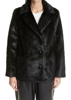 Women's Stand Studio Annabelle Double Breasted Faux Fur Jacket