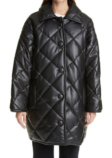 Women's Stand Studio Jacey Oversize Quilted Faux Leather Coat