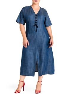 Standards & Practices Plus Size Women's Standard & Practices Meme Tencel Midi Dress
