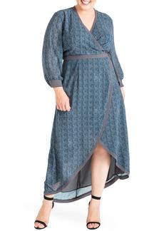 Plus Size Women's Standards & Practices Elle High/low Wrap Dress