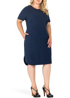 Plus Size Women's Standards & Practices Tania V-Neck Shift Dress