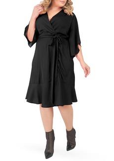 Plus Size Women's Standards & Practices Wrap Dress