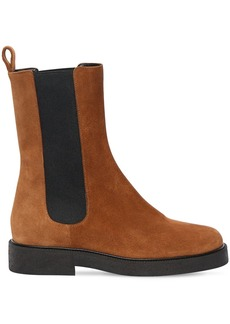 STAUD 35mm Palamino Suede Ankle Boots