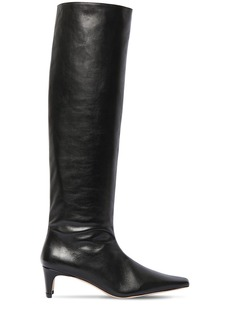STAUD 55mm Wally Leather Tall Boots