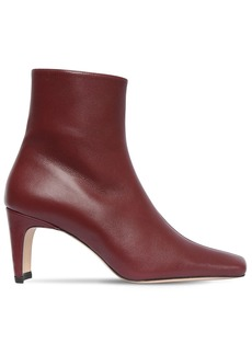 STAUD 60mm Leather Ankle Boots