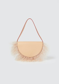 STAUD Amal Feather Leather Shoulder Bag - ONE SIZE FITS ALL
