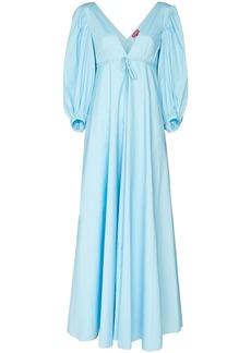 STAUD Amaretti deep-V maxi-dress