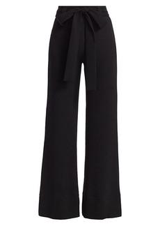 STAUD Bernard Tie-Waist Wide Leg Pants