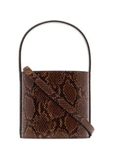 STAUD Bissett snake-effect leather bucket bag