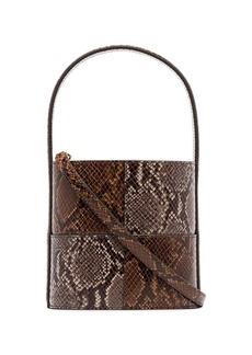 STAUD Bissett two-tone snake-effect bucket bag