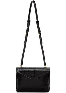 STAUD Black Croc Holly Convertible Bag