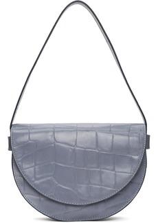 STAUD Blue Croc Amal Bag