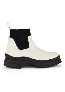 STAUD Bow Lug Sole Sock Ankle Boots