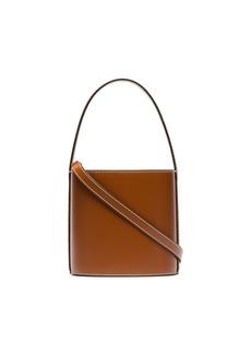 STAUD brown Bisset leather bucket bag