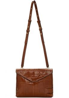 STAUD Brown Croc Holly Convertible Bag