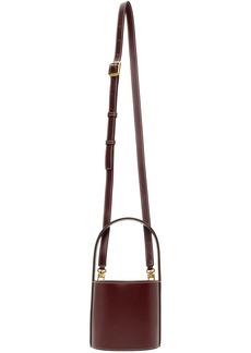 STAUD Burgundy Mini Bissett Bag