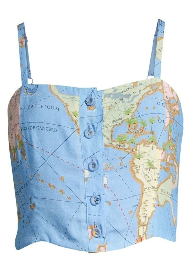 STAUD Caspia Map Crop Top