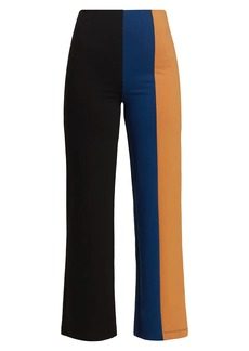 STAUD Connor Colorblock Flare Pants