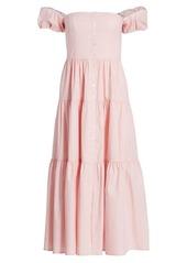 STAUD Elio Puff Sleeve Prairie Dress