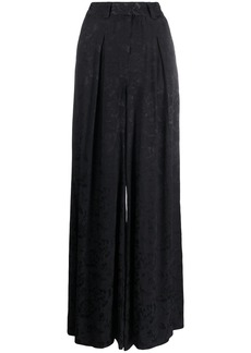 STAUD floral printed wide leg trousers