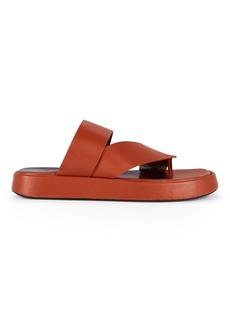 STAUD Fly Flatform Leather Sandals