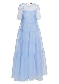 STAUD Hyacinth Tiered Organza Dress