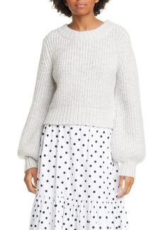 STAUD Inu Balloon Sleeve Sweater