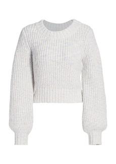STAUD Inu Blouson Sleeve Sweater