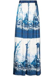 STAUD Ionic print palazzo trousers
