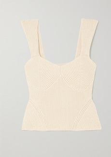 STAUD Kira Ribbed-knit Tank