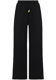 STAUD logo-embroidered wide-leg track pants