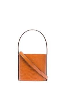 STAUD mini Bisset lizard-effect bucket bag