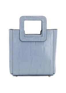 STAUD Mini Shirley Croc Embossed Leather Bag