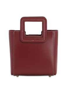 STAUD Mini Shirley Leather Top Handle Bag